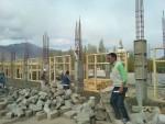 ripresa dei lavori per la costruzione del laboratorio di scienze al TCV di Choglamsar